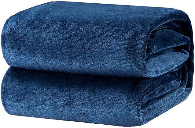 Bedsure Fleece Blanket Throw Size Navy Lightweight Super Soft Cozy Luxur