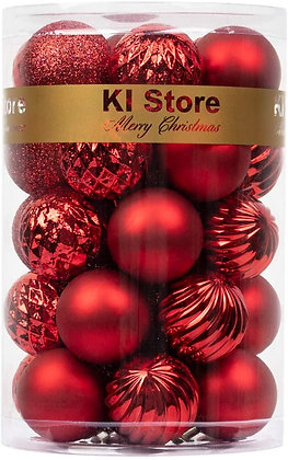 KI Store 34ct Christmas Ball Ornaments