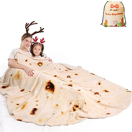 mermaker Burritos Tortilla Blanket 2.0 Double Sided 80 inches