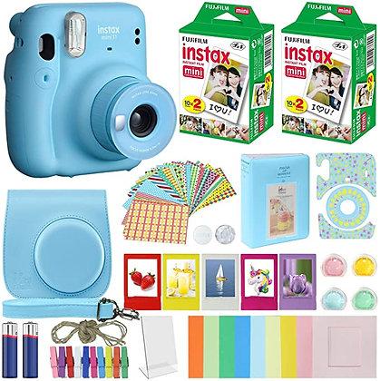 Fujifilm Instax Mini 11 Instant Camera Sky Blue Compatible Carrying Case + Fuji