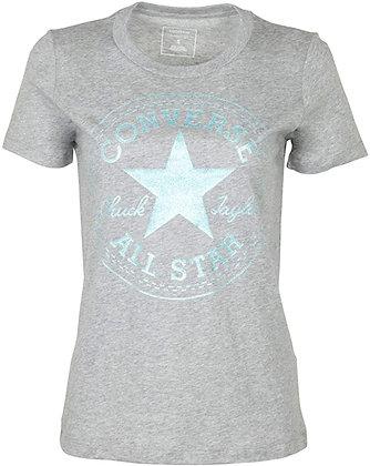 Converse Women's Glitter Chuck Taylor Core Patch T-Shirt