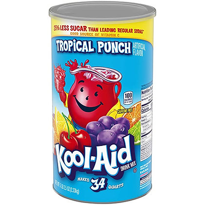 Kool-Aid Tropical Punch Flavored Caffeine Free Powdered Drink Mix (82.5 oz Canis