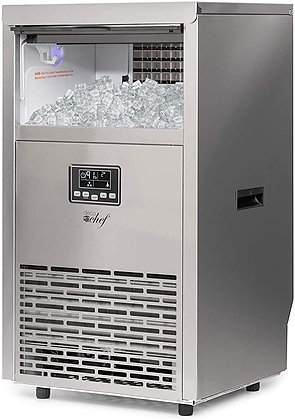 Deco Chef Commercial Ice Maker 99lb Every 24 Hours 33lb Storage Capacity Stainle