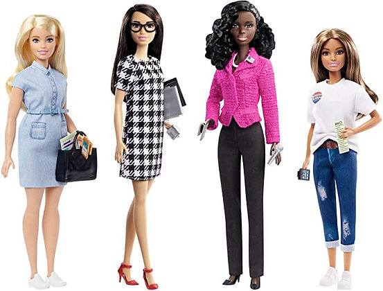 Barbie Campaign Team Giftset with Four 12-in/30.40-cm Dolls & Accessories