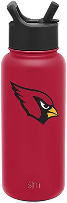 Simple Modern NFL 32oz Water Bottle with Straw Lid Insulated Stainless Steel Sum