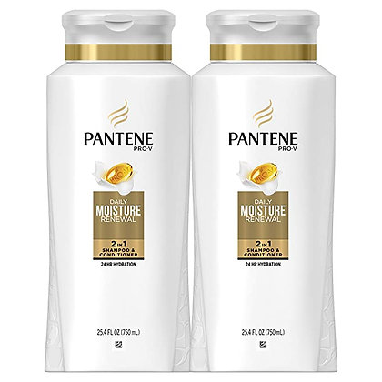 Pantene, Shampoo and Conditioner 2 in 1, Pro-V Daily Moisture Renewal fo