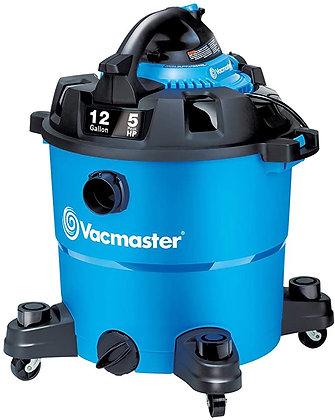 Vacmaster VBV1210, 12-Gallon 5 Peak HP Wet/Dry Shop Vacuum with Detachable Blowe