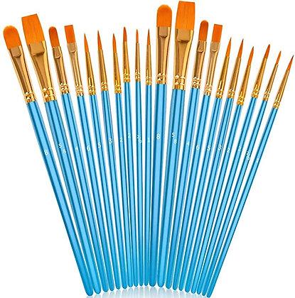 """20-piece Acrylic Paint Brush Set and 1 pack foam  brushes"""