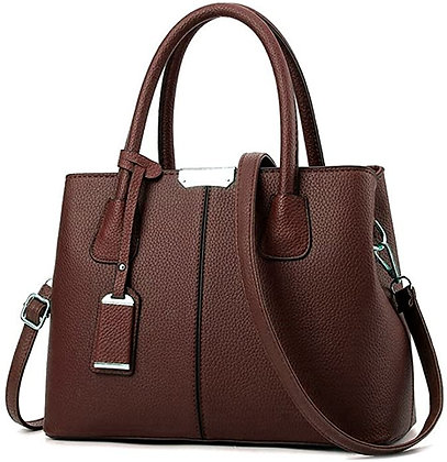 B&E LIFE Stylish Women Pu Leather Vertical Utility Top Handle Handbag