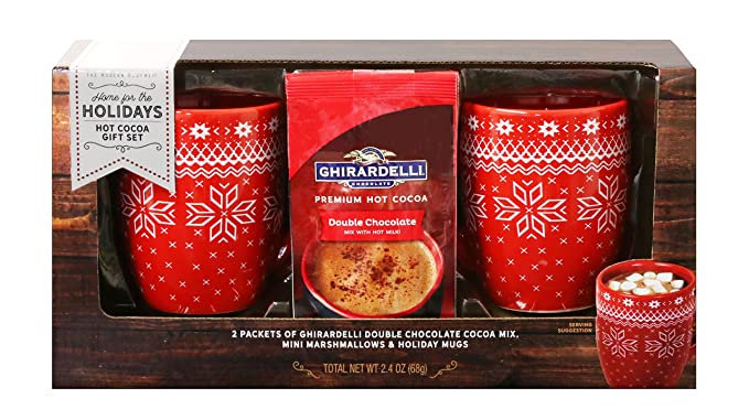 Thoughtfully Gifts, Ghirardelli Cocoa for Two Gift Set