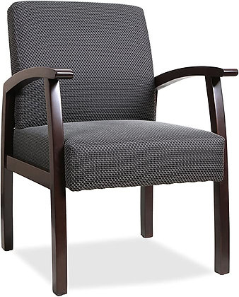 Lorell Guest Chairs, 24 by 25 by 35-1/2-Inch, Espresso/Charcoal