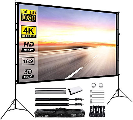 Projector Screen with Stand 120inch
