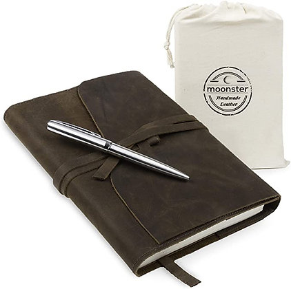 Refillable Leather Journal Gift Set - with Luxury Pen