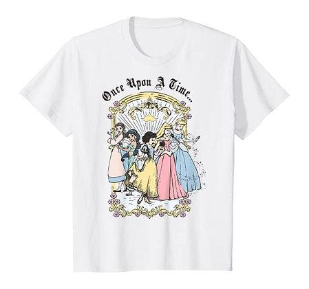 Disney Princess Once Upon A Time Vintage Group Portrait T-Shirt