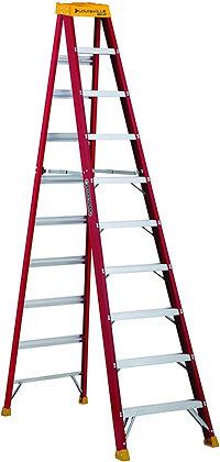 Louisville Ladder L-3016-10 300-Pound Duty Rating Fiberglass Stepladder
