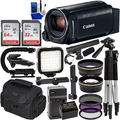 Canon VIXIA HF R800 HFR800 Camcorder (Black) & 14PC Deluxe Accessory Bundle