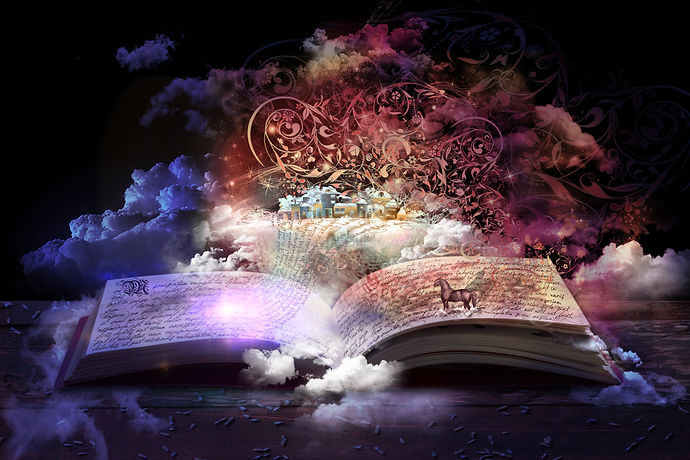 book, novel, fanasy, purple, pink, horse, smoke, enchanted, fair tale
