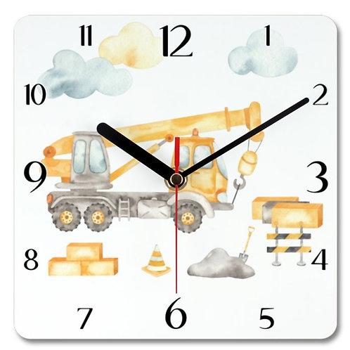 Crane Themed Personalised Square Clock
