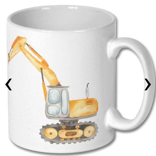 Excavator_2 Themed Personalised Mug