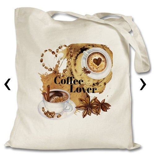 Coffee Lover Themed Personalised Tote Bag