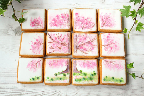 Gluten-free Cherry Blossom Tree themed Gingerbread Biscuits