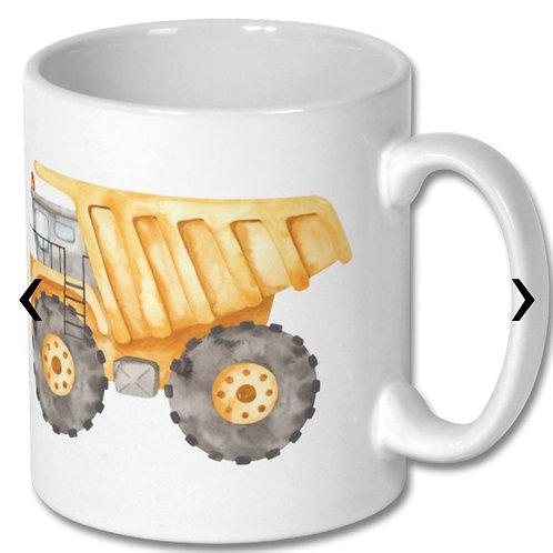 Dump Truck Themed Personalised Mug