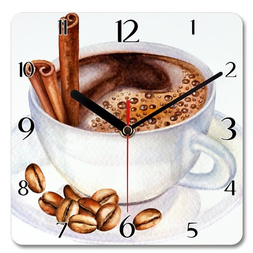 Coffee_6 Themed Personalised Square Clock