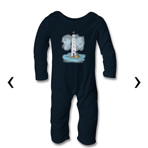 Lighthouse Themed Personalised Baby Bodysuit