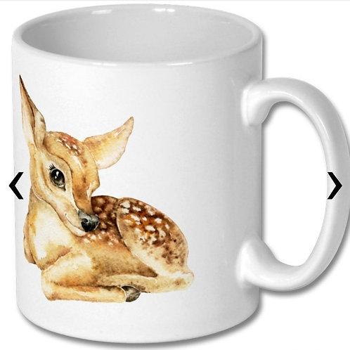 Deer Themed Personalised Mug