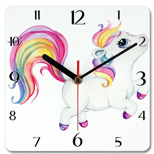 Pony_9 Themed Personalised Square Clock
