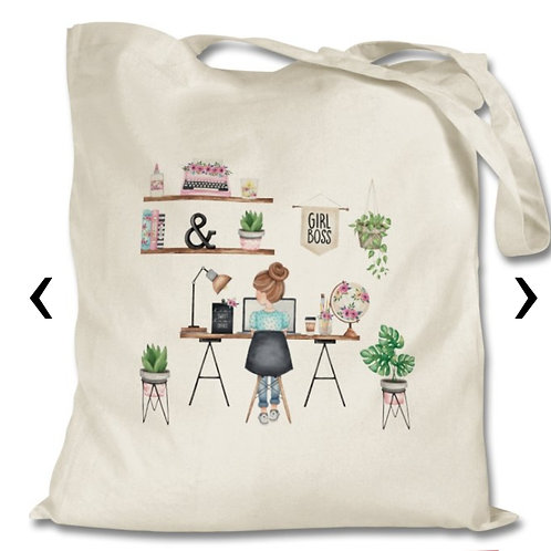 Girl Boss Themed Personalised Tote Bag