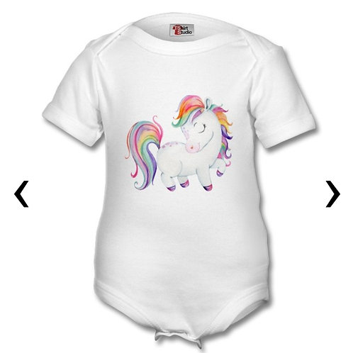 Pony_6 Themed Personalised Baby Grows