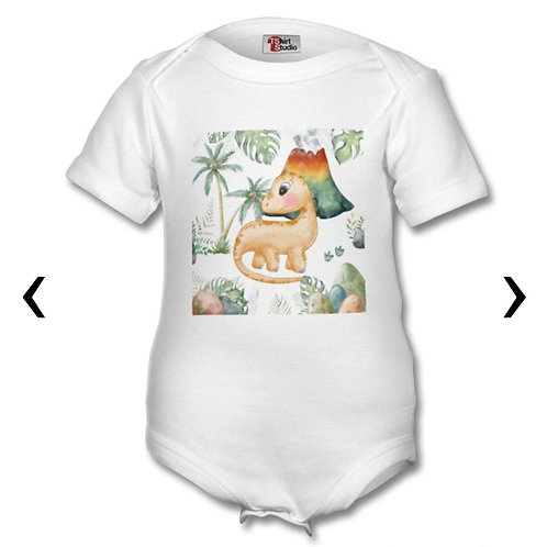 Dinosaur_2 Themed Personalised Baby Grows