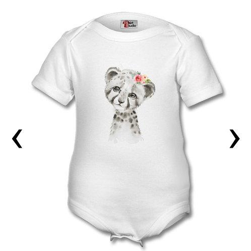 Cheetah Themed Personalised Baby Grows
