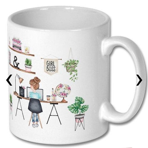 Girl Boss Themed Personalised Mug