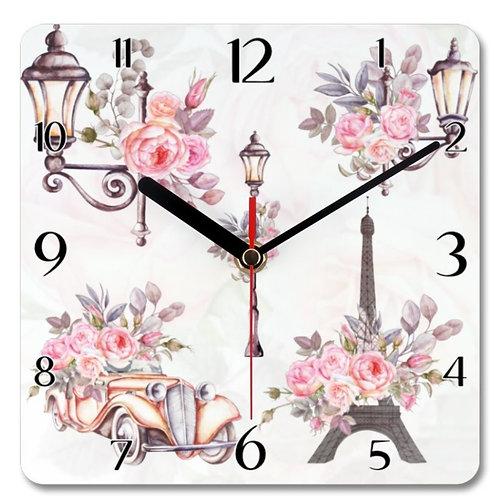 Paris_11 Themed Personalised Square Clock