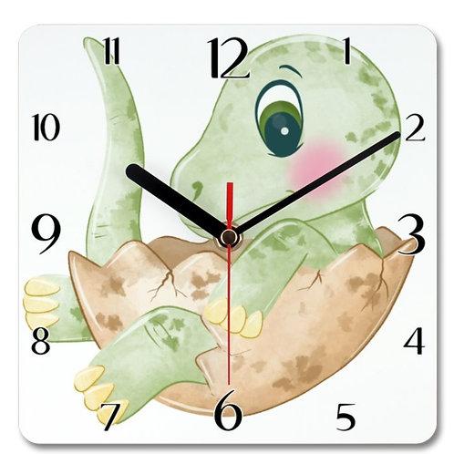 Dinosaur_10 Themed Personalised Square Clock