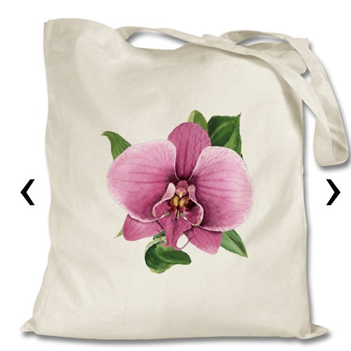 Orchid Themed Personalised Tote Bag