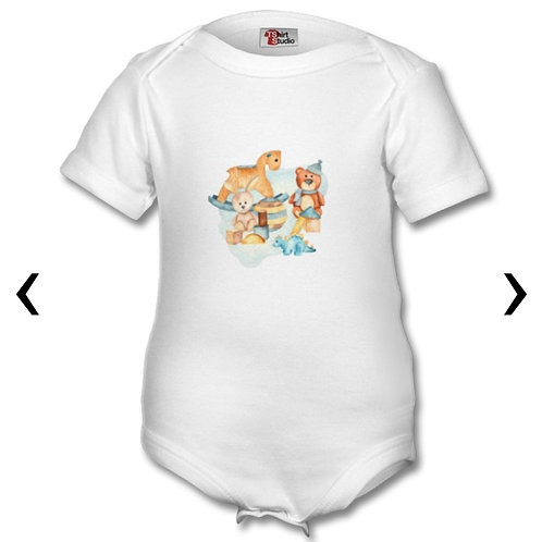Wooden Toys_3 Themed Personalised Baby Grows