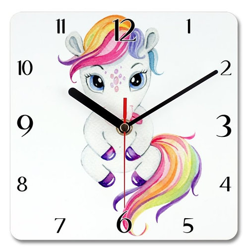 Pony_7 Themed Personalised Square Clock