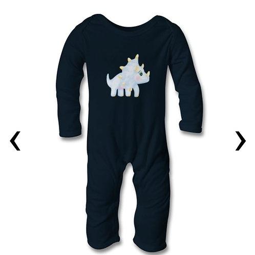 Dinosaur_8 Themed Personalised Baby Bodysuit