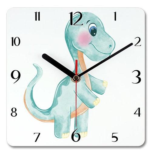 Dinosaur_9 Themed Personalised Square Clock