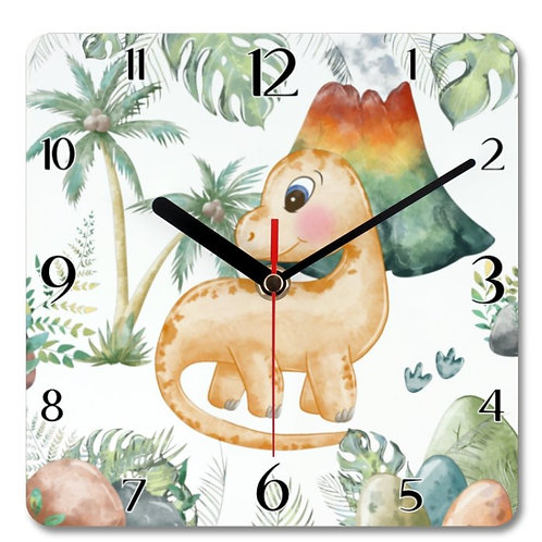 Dinosaur_2 Themed Personalised Square Clock