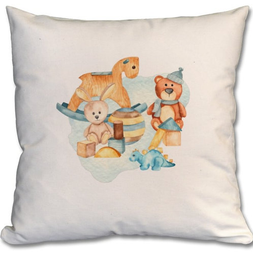 Wooden Toys_3 Themed Personalised Cushions