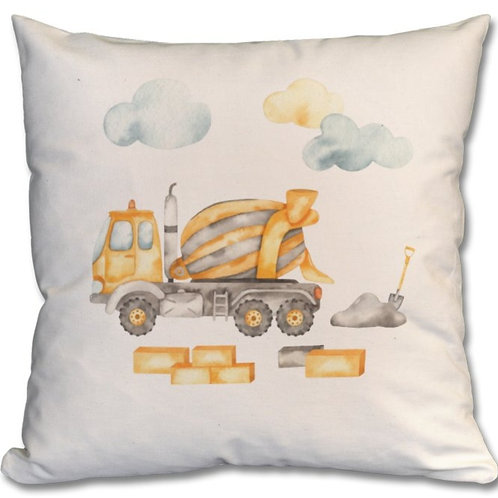 Cement Mixer Themed Personalised Cushions