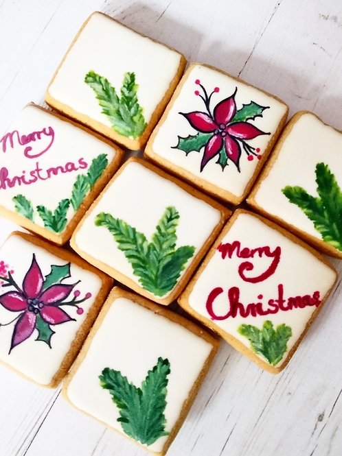 Gluten-free Christmas themed ginger biscuits