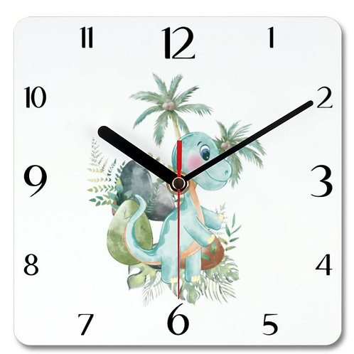 Dinosaur_6 Themed Personalised Square Clock
