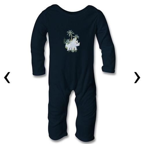Dinosaur_3 Themed Personalised Baby Bodysuit