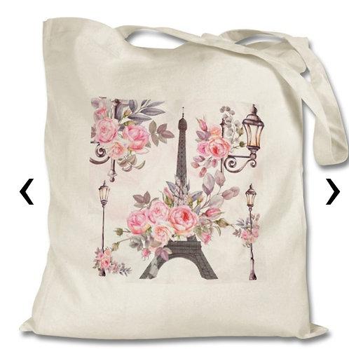 Paris_2 Themed Personalised Tote Bag