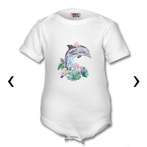 Dolphin Themed Personalised Baby Grows